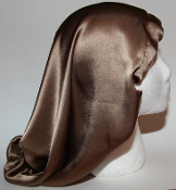 Charmeuse SIlk Sleep Cap (Coffee) 15""