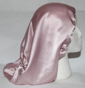 Charmeuse Silk Sleep Cap (Pink) 16""