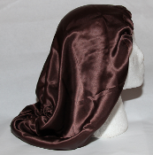 Charmeuse Silk Sleep Cap Adjustable (Mocha) 15""