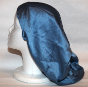 Charmeuse Silk Sleep Cap Adjustable (Light Blue) 14""