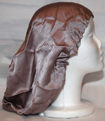 Charmeuse Silk Sleep Cap Adjustable (Cappuccino) 15""
