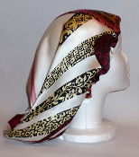 Charmeuse Silk Sleep Cap Adjustable (2214) 14""