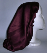 Charmeuse Silk Sleep Cap Adjustable (22190) 14""