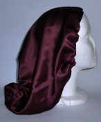 Charmeuse Silk Sleep Cap Adjustable (77139) 15""