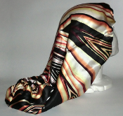 Charmeuse Silk Sleep Cap (Orange Stripes) 19""